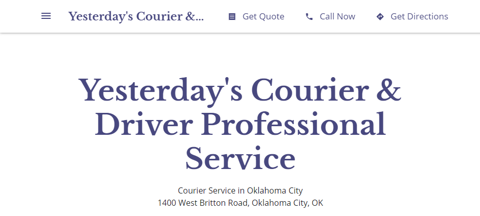 Professional Courier Services in Oklahoma City