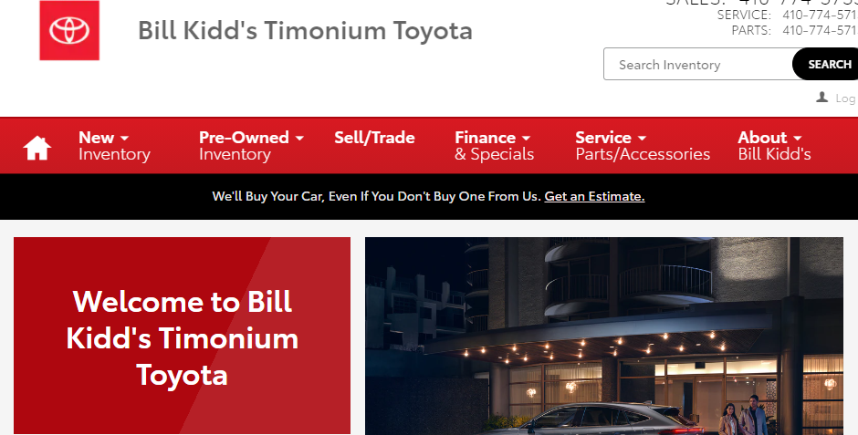 Reliable Toyota Dealers in Baltimore