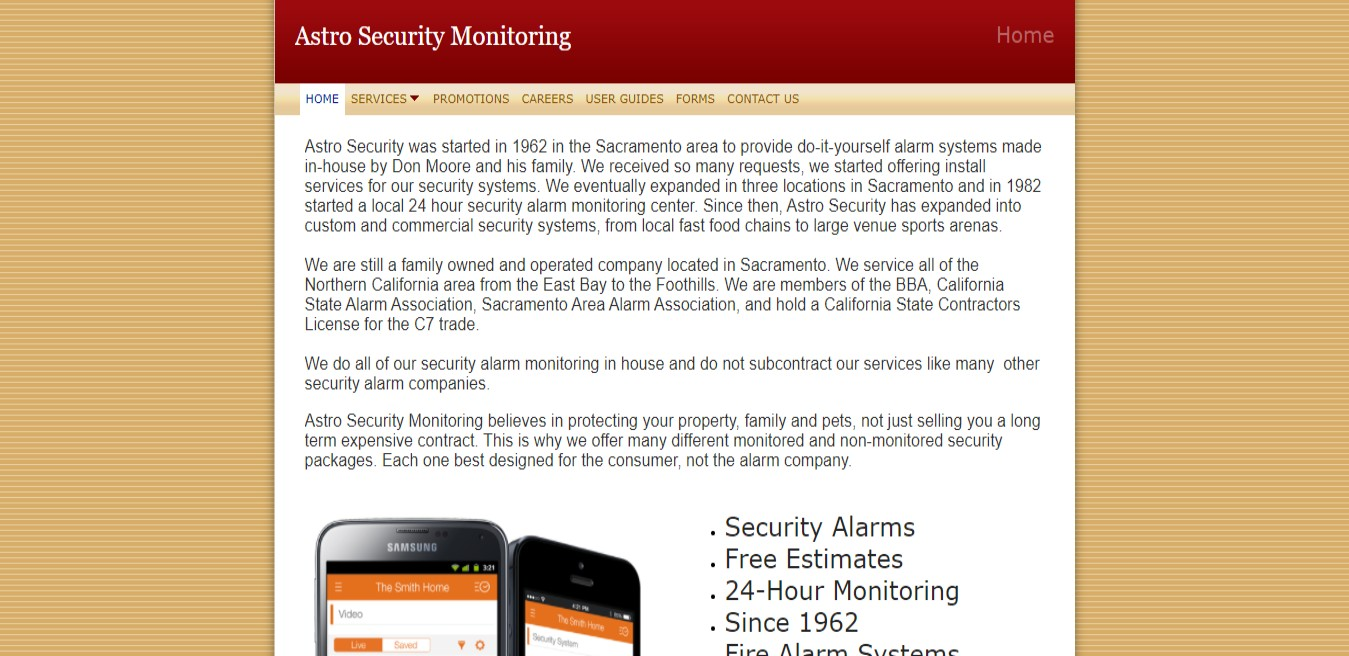 Astro Best Security Systems Supplier in Sacramento, CA