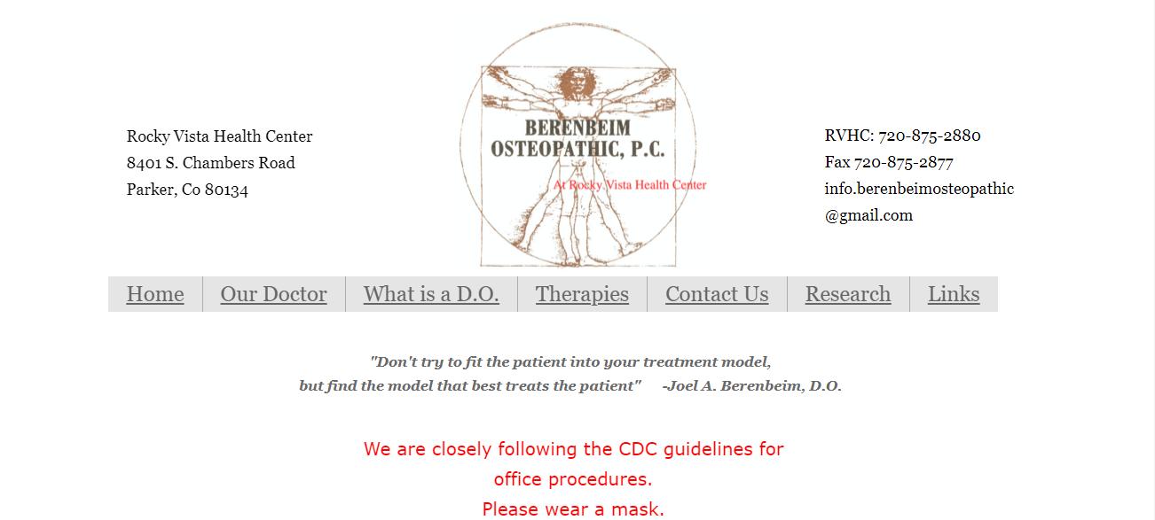 Berenbeim Osteopathic, P.C. in Denver, CO