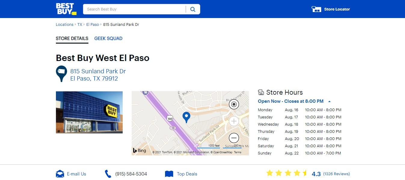 Best Buy Best Electronics Store in El Paso, TX