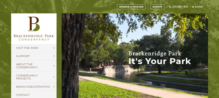 Brackenridge Park in San Antonio, TX