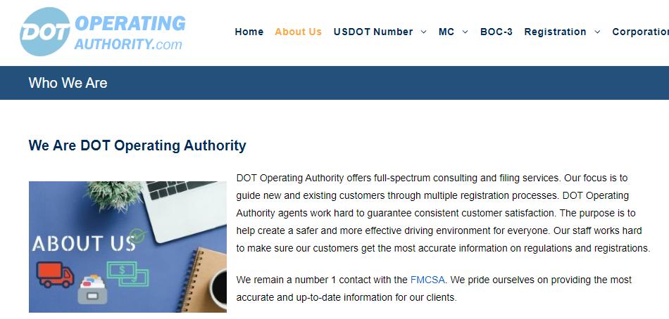DOT Operating Authority