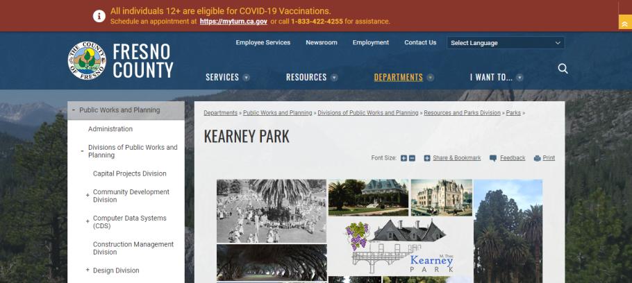 Kearney Park in Fresno, CA