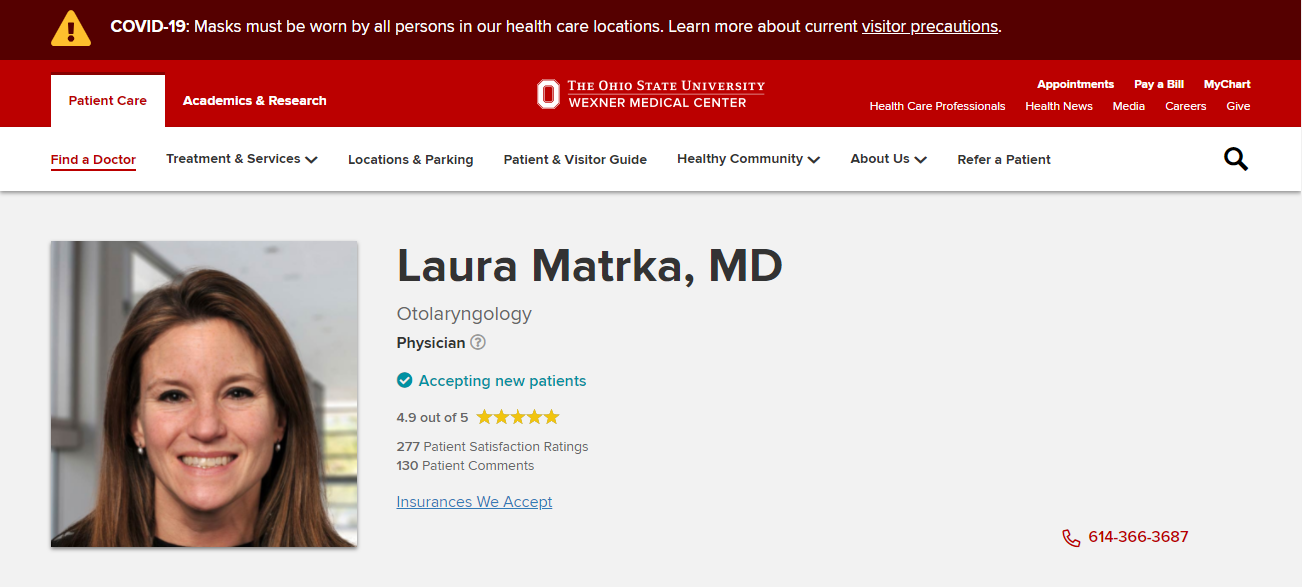 Laura Matrka, MD in Columbus, OH