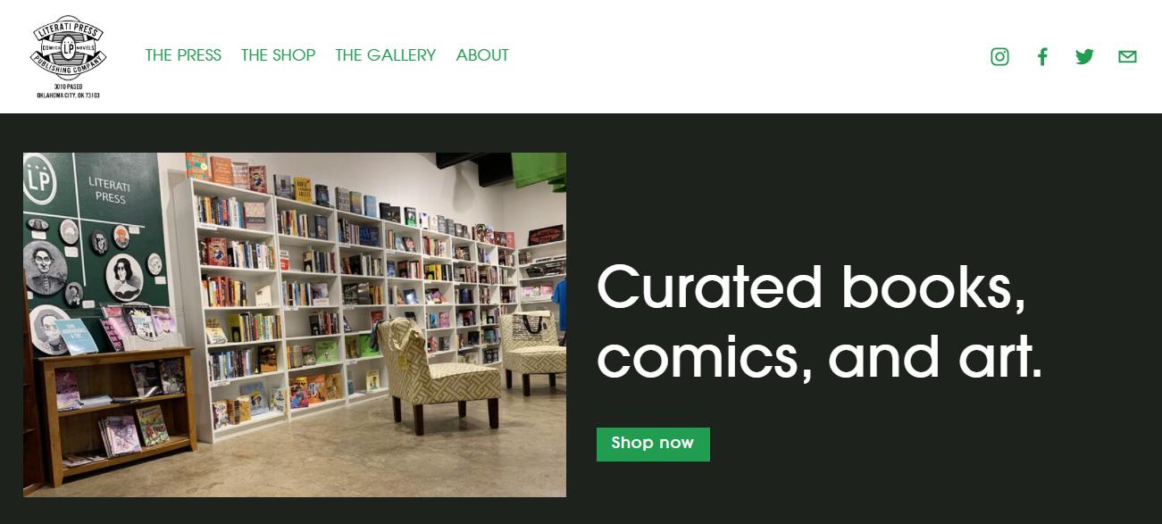 Literati Press Bookshop in Oklahoma City, OK
