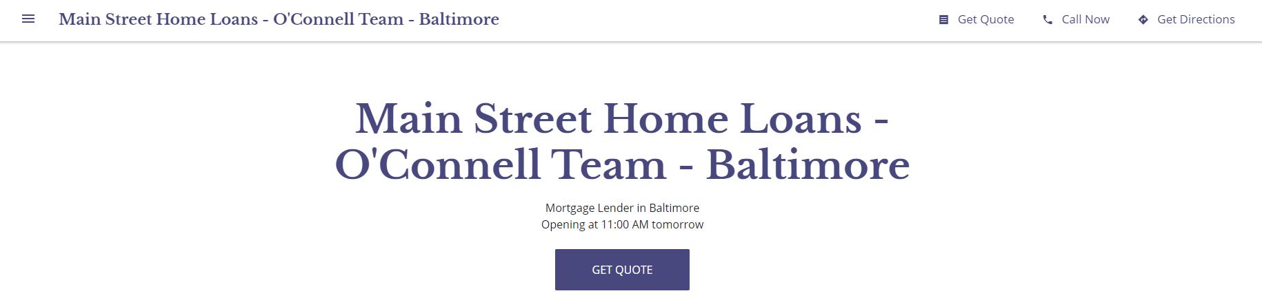 Main Street Home Loans