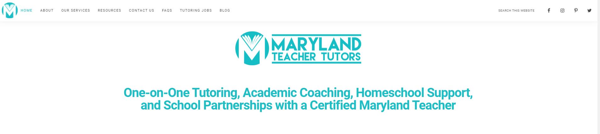 Maryland Teacher Tutors