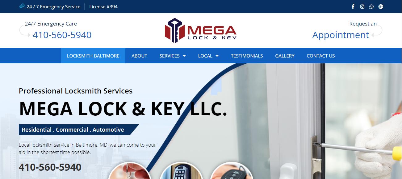 Mega Lock And Key in Baltimore, MD