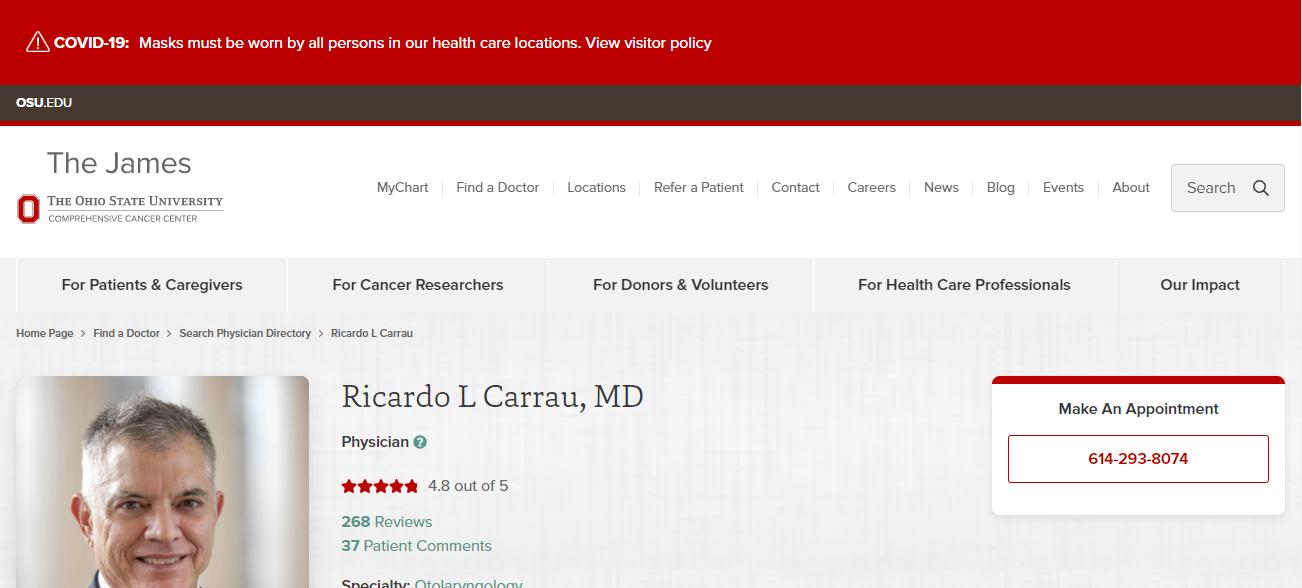 Ricardo L Carrau, MD in Columbus, OH