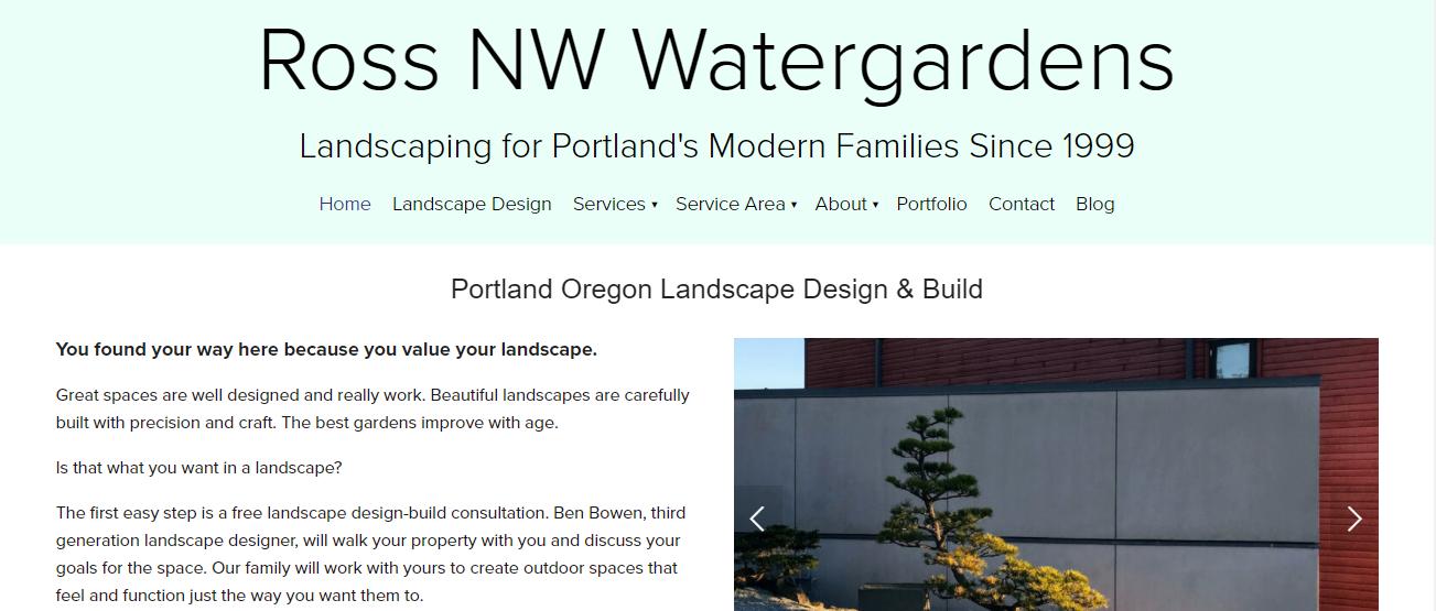 Ross NW Watergardens in Portland, O