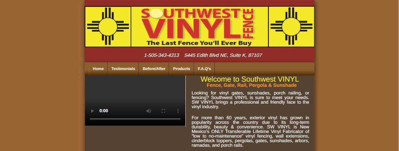 SW Vinyl Fence in Albuquerque, NM