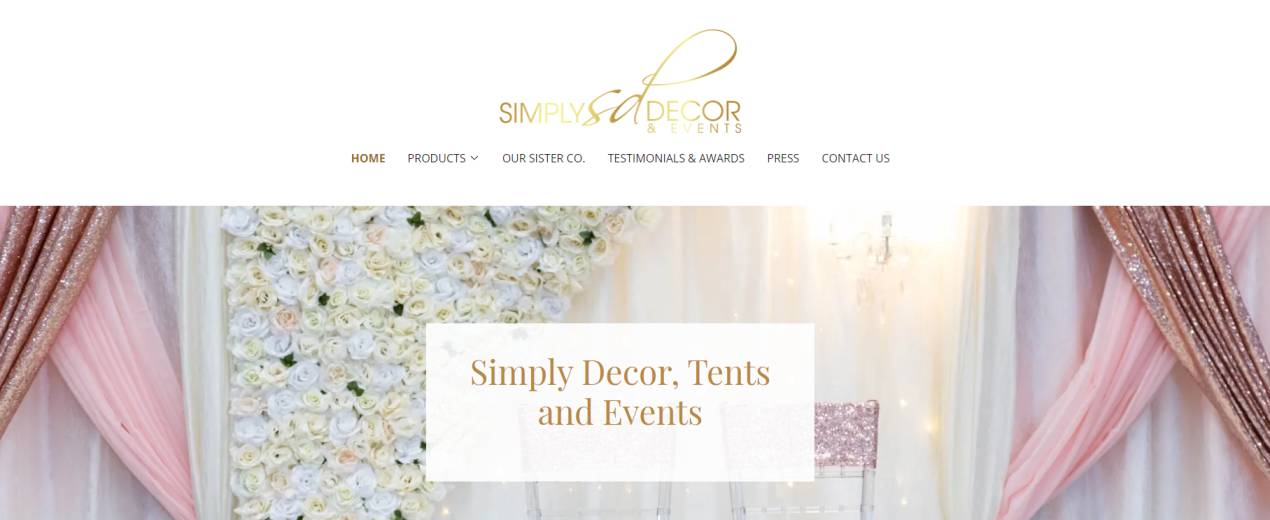Simply Decor Tents and Events