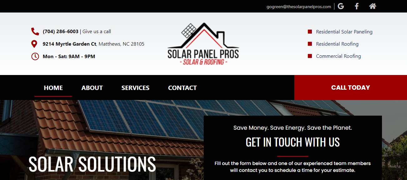 Solar Panel Pros & Roofing in Charlotte, NC