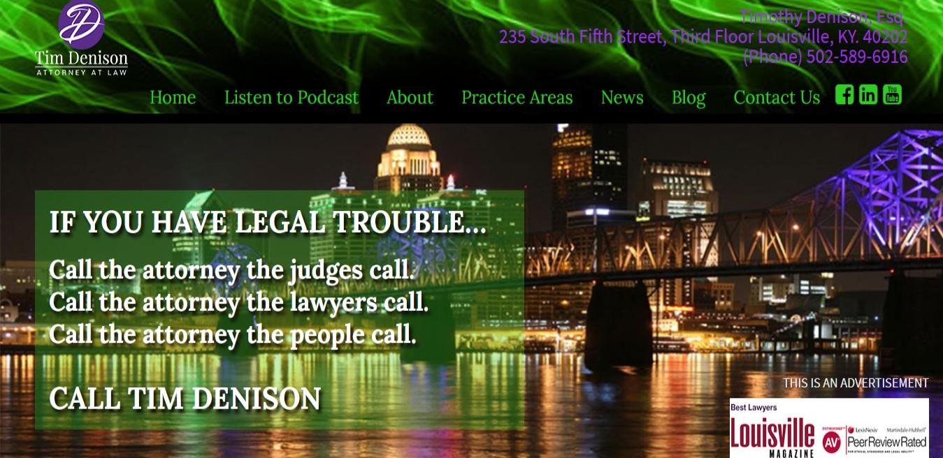 Tim Denison BEST Drunk Driving Attorneys in Louisville, KY