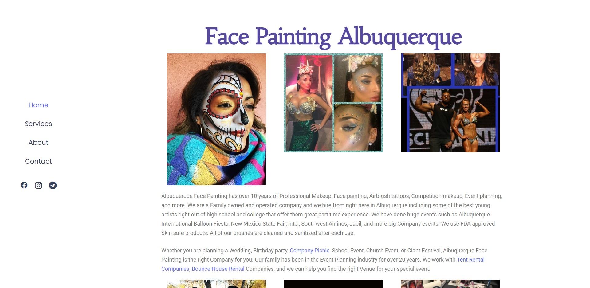 Albuquerque, NM's Best Face Painting