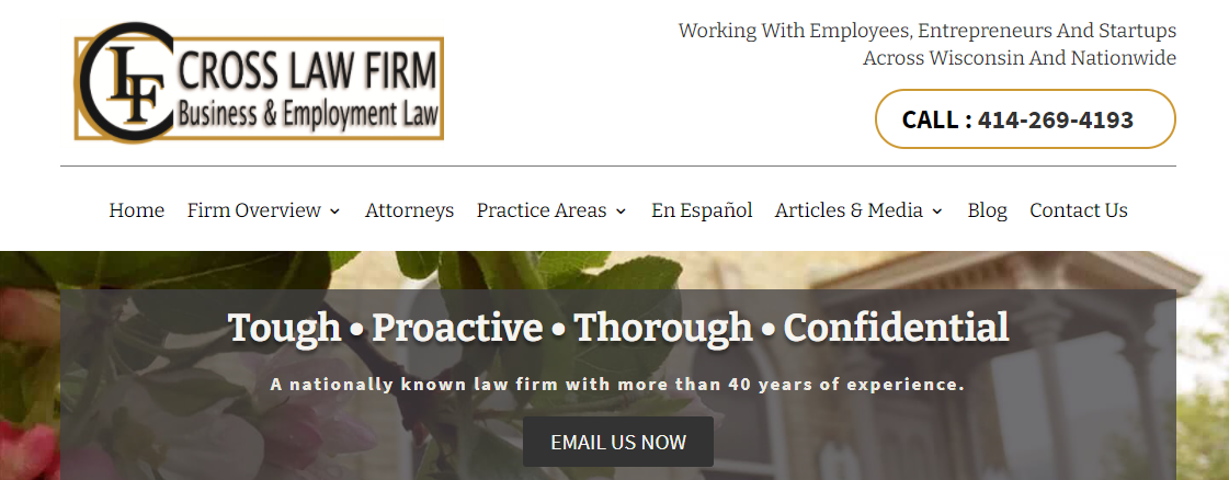 Cross Law Firm, SCConstitutional Law Attorneys in Milwaukee, WI