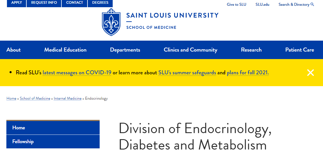St. Louis University Division of Endocrinology, Diabetes and Metabolism