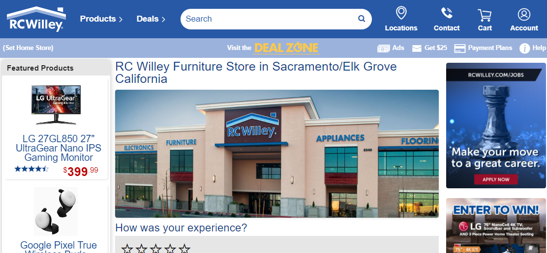 RC WilleyFurniture Stores in Sacramento, CA