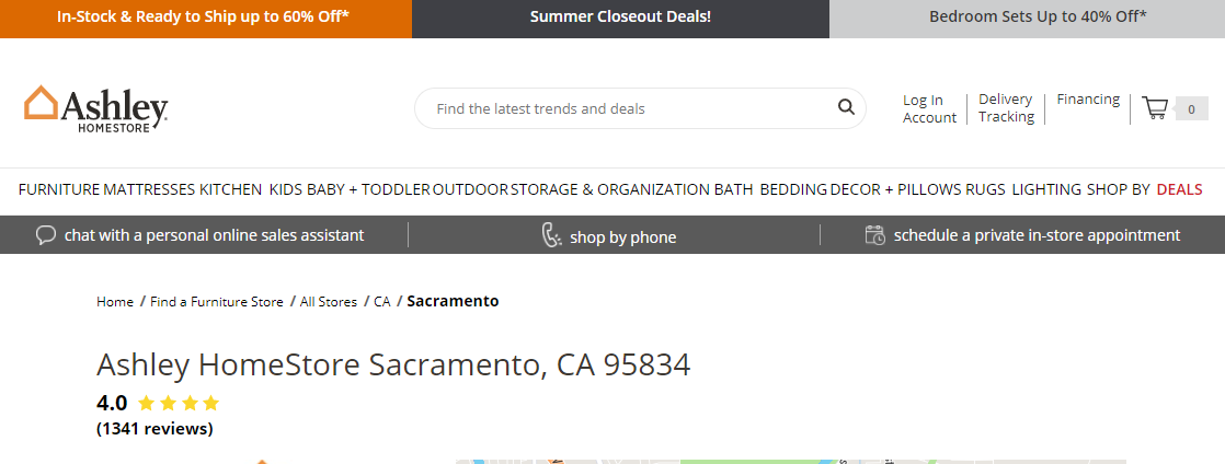 Ashley HomeStore Furniture Stores in Sacramento, CA