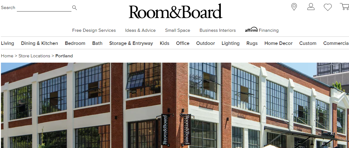 Room and Board Furniture Stores in Portland, OR
