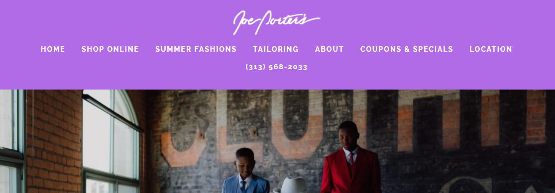Joe Porters Men's Wear