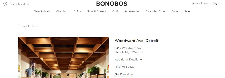 Bonobos Men's Clothing in Detroit, MI