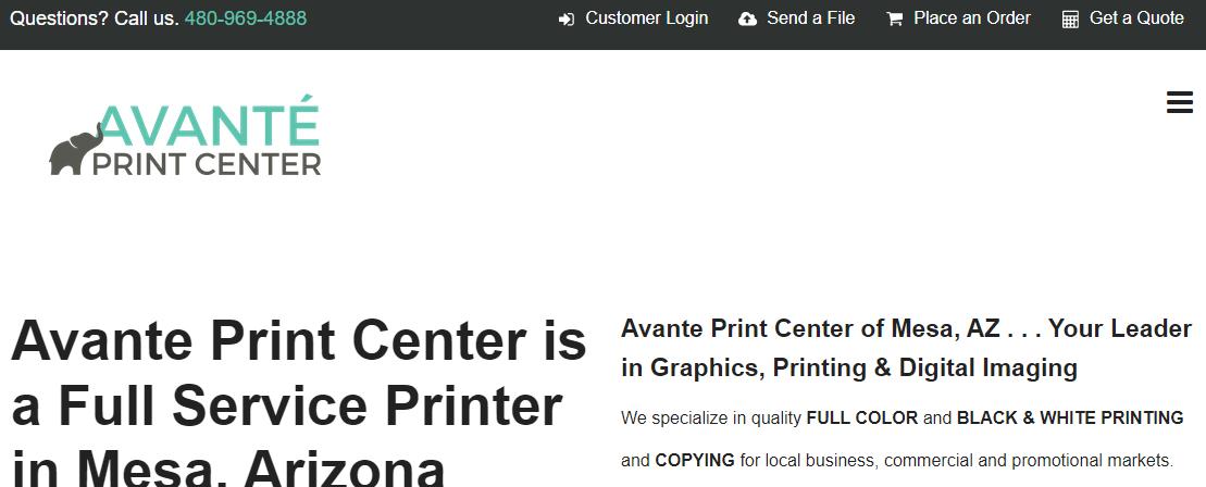 Avante Print CenterMesa, AZ
