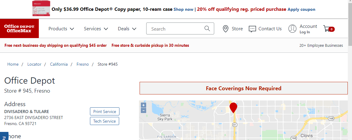Office Depot Software Retailers in Fresno, CA