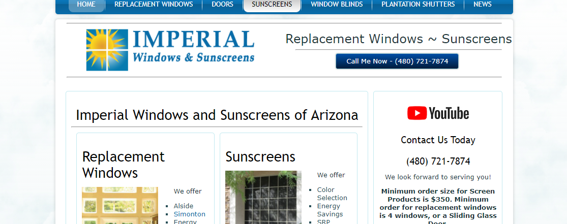 Imperial Windows and Sunscreens