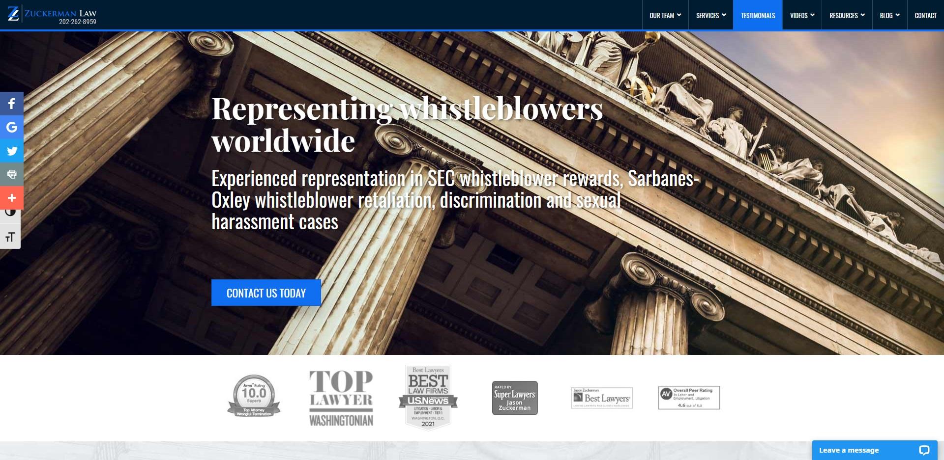 Washington, DC Best Unfair Dismissal Attorneys