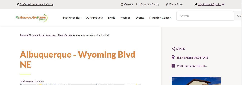 large Health Food Stores in Albuquerque