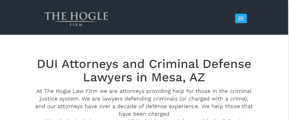 Great Criminal Attorneys in Mesa
