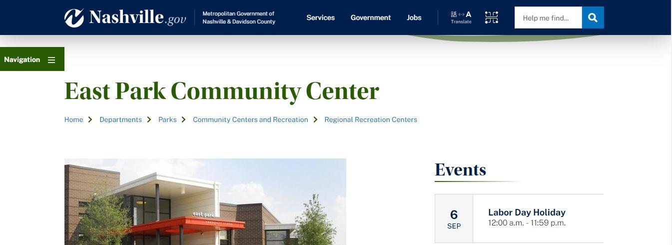 safe Leisure Centres in Nashville