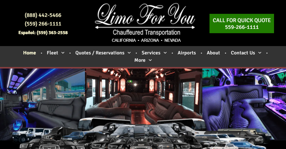 Trained Limousine Services in Fresno