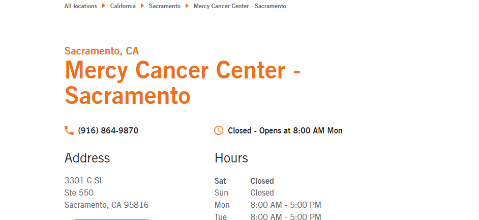 Proficient Oncologists in Sacramento