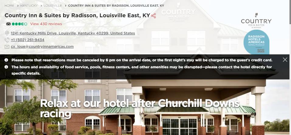 Clean Hotels in Louisville
