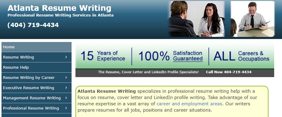 Known Resume Help in Atlanta