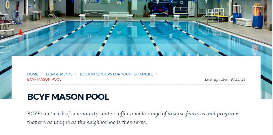 Safe Swimming Pools in Boston