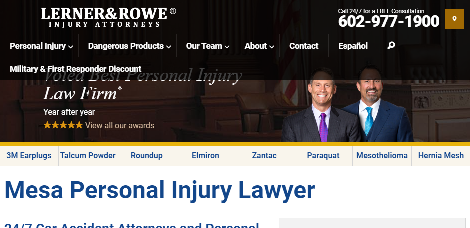 Professional Personal Injury Attorneys in Mesa