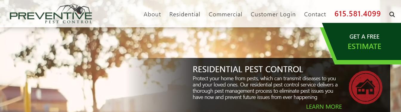 dedicated Pest Control Companies in Nashville