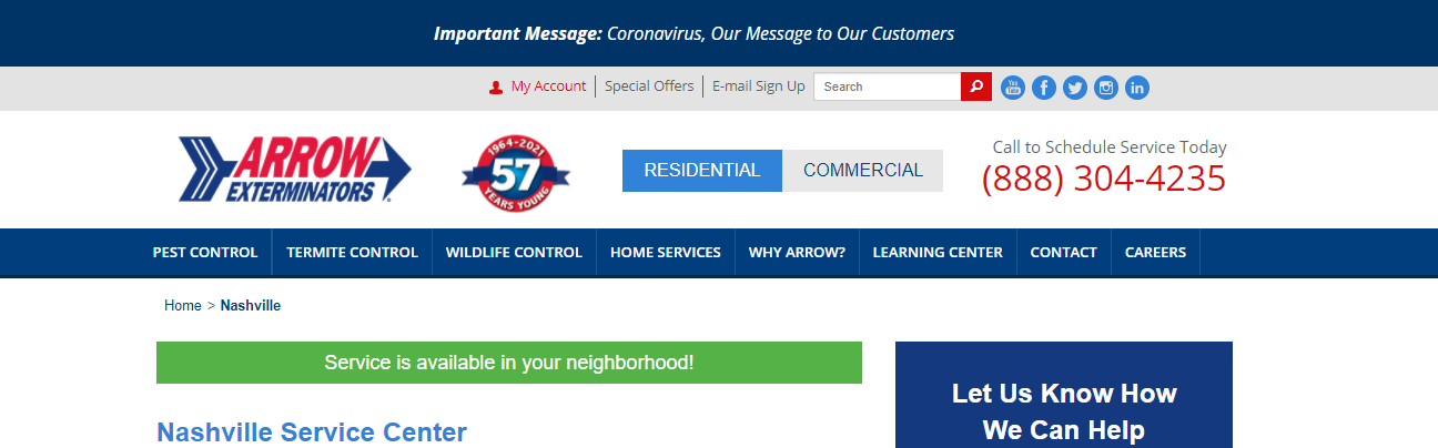 comprehensive Pest Control Companies in Nashville