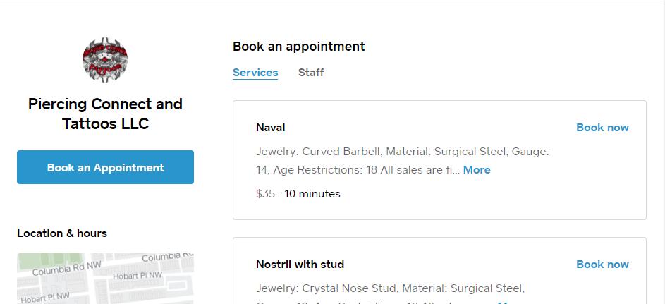 Expert Body Piercing in Washington