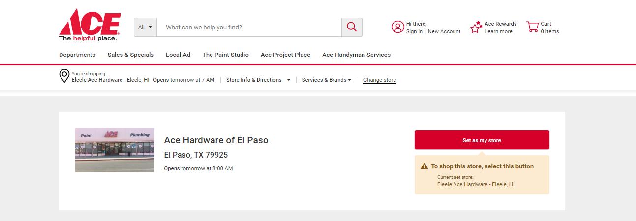 Ace Hardware of El Paso