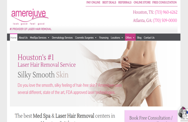 Top rated Laser Hair Removal in Houston