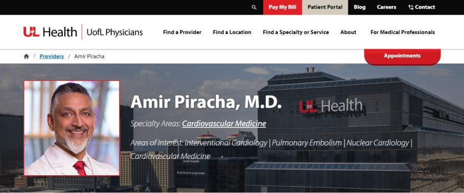 Amir Piracha, M.D. in Louisville, KY