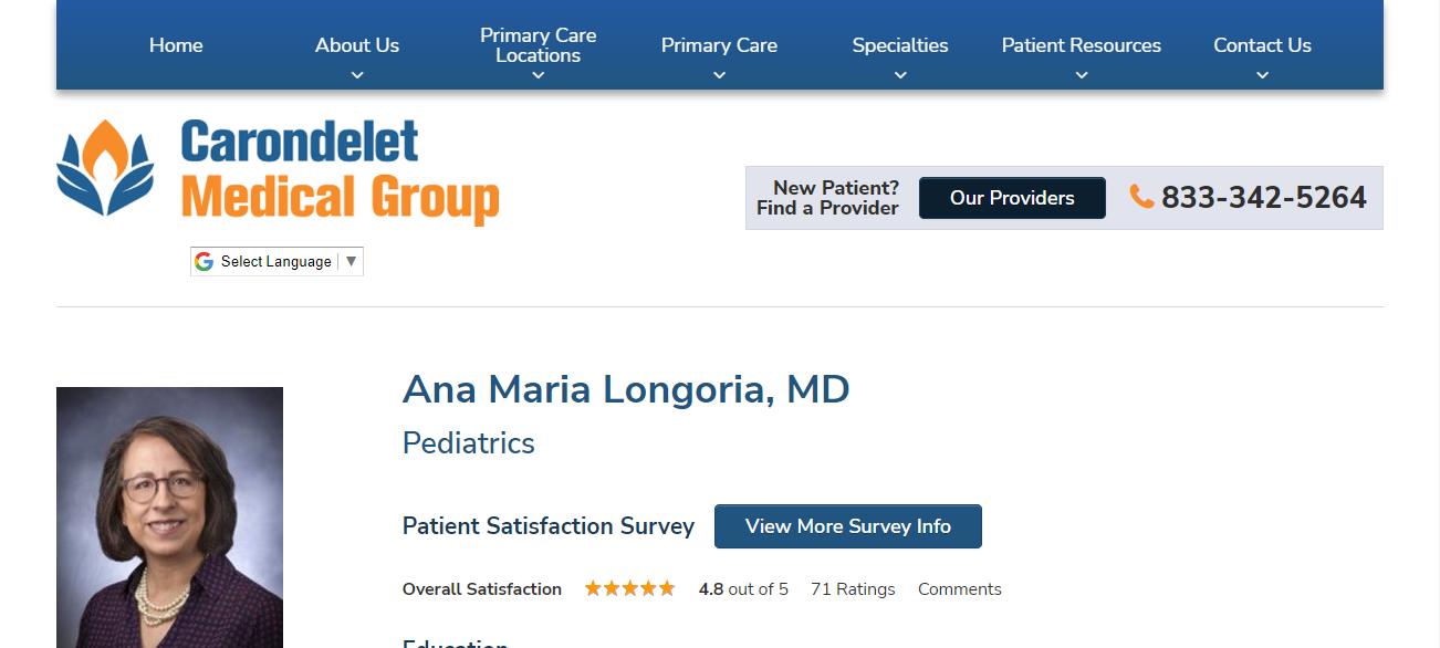 Ana Maria Longoria, MD in Tucson, AZ