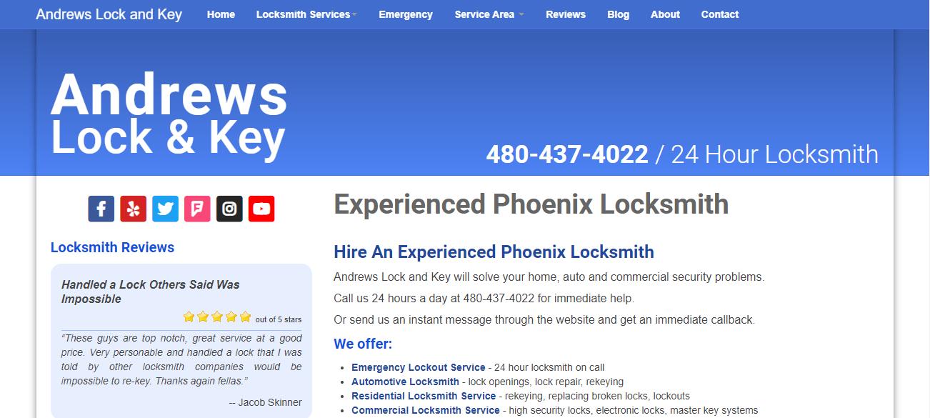 Andrews Lock and Key in Mesa, AZ
