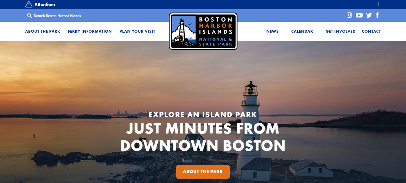 Boston Harbor Islands in Boston, MA