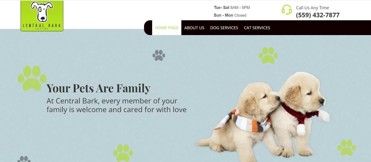 Central Bark Pet Spa & Boutique
